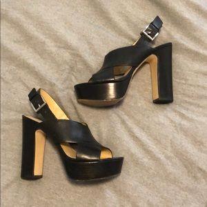 MK platform heels